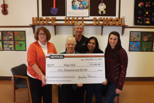Sherwin-Williams Corp. Awards $5,000 Grant to Hope Hall School's Woodworking Program