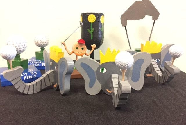 8th Grade Students Create Trophies for Golf Tournament Contest Winners