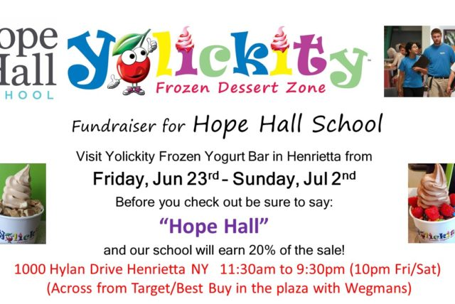 Yolickity Henrietta Hosts Fundraiser for Hope Hall School (June 23 – July 2)