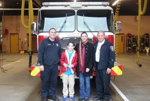 4th Grade Hope Hall Student, Layne Harned, Wins Gates Fire District Contest!