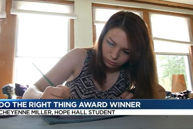 Cheyenne Miller, Hope Hall Student, Highlighted on WHEC Channel 10 News