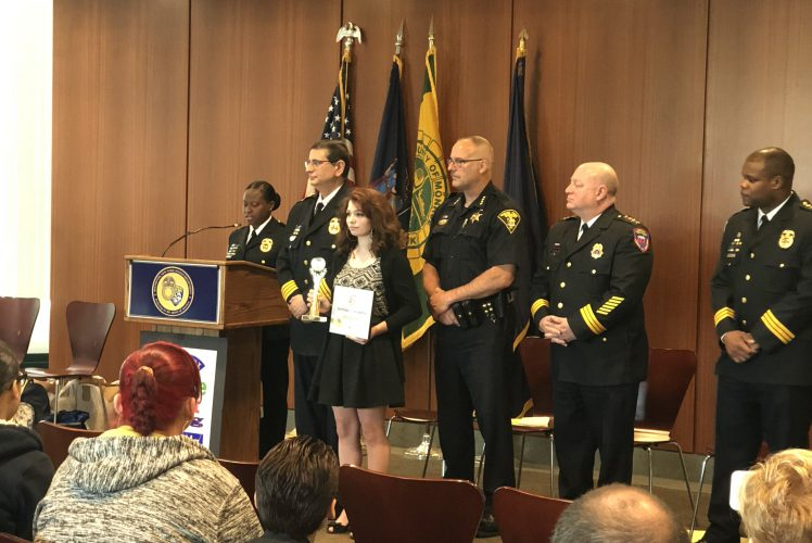 11th Grade Hope Hall Student, Cheyenne Miller, Recognized by Monroe County & RPD for Outstanding Citizenship