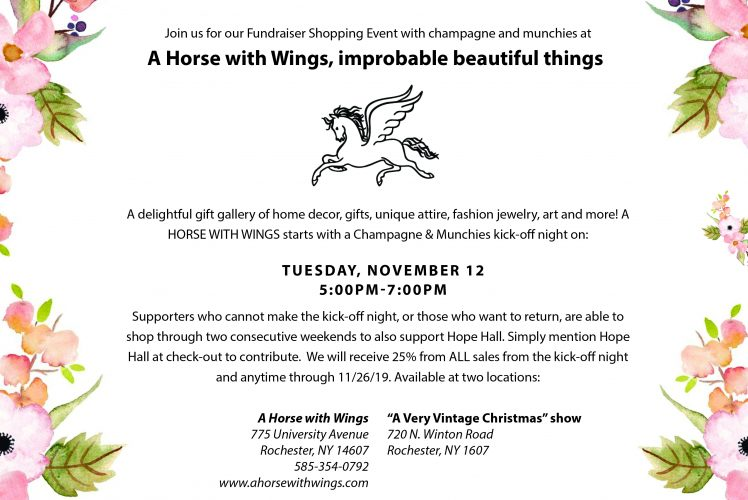 Thank you for supporting the Horse with Wings Shopping Event