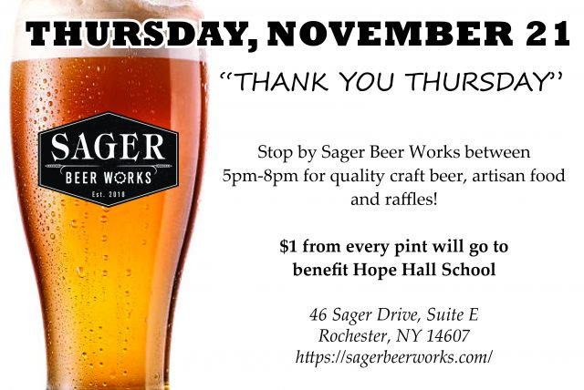 Join us at Sager Beerworks for #ThankfulThursday